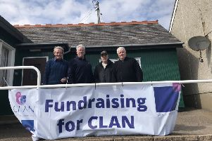 CLAN Texas Scramble winning team at Stonehaven L-R Neil Robertson, Bert Butchart, John Gray and Alex Geddes