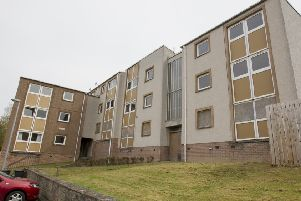 Blocks five and six of Hawick's Stonefield flats.