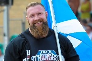 Scott Milne is taking part in the UK's Strongest Man competition.