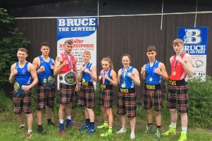 Pictured are Forgewood ABC champions from 2019, Darren Johnstone, Vicky Glover, Matthew Middleton, John Stevenson, Mark Johnstone, Devon Montgomery Smith, Maddison Clarkson and Nial Burke. Fellow champions Andrew Sneddon and Lloyd Delaney are not in the picture.