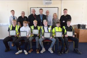 The group received awards from the Construction Academy