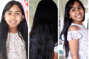 Freya Farnaz Haseen from Lenzie will donate 12 inches of her long locks to the Little Princess Trust