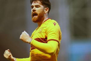 Liam Donnelly gave Motherwell the lead but Celtic hit back (pic : Ian McFadzean)