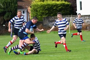 Allan Glen's is action against Strathendrick last season (pic by Weegie Rugby)