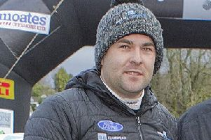 Rally driver Euan Thorburn.