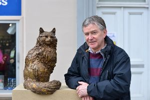 Sculptor David with another work