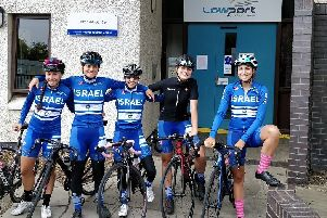 The Israel National Cycle Team stayed at the Low Port Outdoor Education Centre in Linlithgow