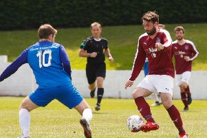 Tommy Coyne scored both Linlithgow goals in their Scottish Cup win over Preston Athletic
