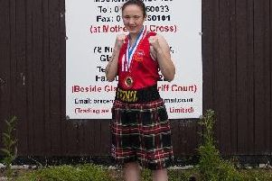 Local fighter Vicky Glover