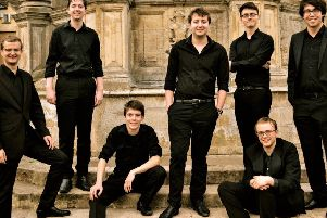 The Gesualdo Six will be performing at St Michael's Parish Church on Saturday, January 19, starting at 7.30pm.