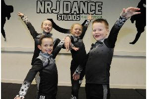 Four fife youngsters are set for the televised dance final. (Pic George McLuskie).