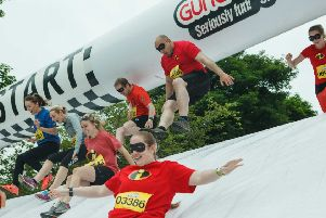 Action from a previous Gung Ho! event in Edinburgh
