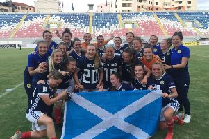 A jubilant Scotland celebrated wildly in Shkoder as they clinched their first-ever spot at a Women's World Cup finals with a dramatic victory over Albania.