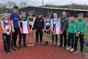 New vests are collected by Team Borders athletes from clubs across south-east Scotland.