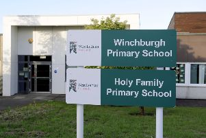 Picture Michael Gillen. Holy Family Primary School currently shares a site with Winchburgh Primary School.