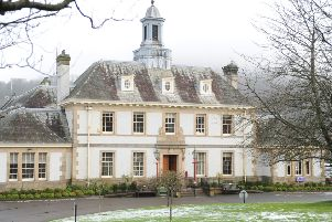 Peebles police station, in Rosetta Road.