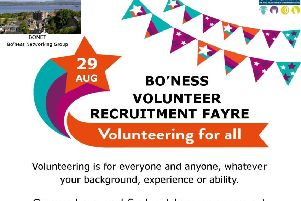 Bo'ness Volunteer Recruitment Fayre poster.