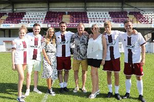 Linlithgow Rose goal hero Tommy Coyne lines up pre-match with his family