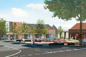 Winchburgh New Town Centre. Architects drawing, Michael Laird Architects.