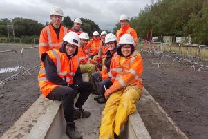 The HNC Construction and Civil Engineering students from West Lothian College were delighted to be given the opportunity to work with the Teardrop Project