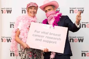 Edinburgh Western MSP Alex Cole-Hamilton with constituent Alison Tait  who is living with incurable secondary breast cancer