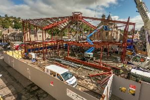 The forthcoming home in Galashiels for the Great Tapestry of Scotland is now taking shape. Photo: Borders Aerial Photography