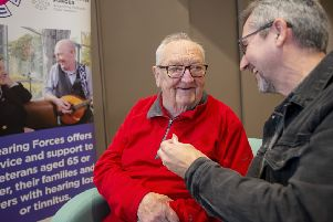 Frankie Lydon volunteers with the Hearing Forces service, assisting older veterans to cope with hearing loss. (Photo: Alan Peebles)