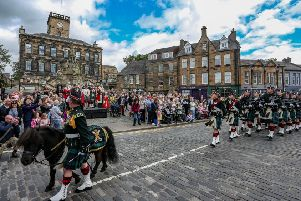 Linlithgow High Street, photo by Andrew West, kindly supplied by Sally McIntosh-Anderson.
