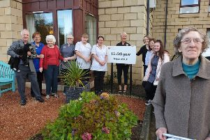 Staff and residents at HC-One's Linlithgow care home on St Ninians Road in Linlithgow celebrating, having received a glowing report from the Care Inspectorate.