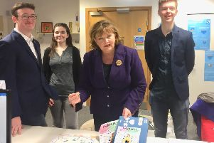 Fiona Hyslop MSP at the Scottish Youth Parliament.