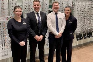 Category one referee, Grant Irvine, joined staff at Specsavers in Linlithgow.