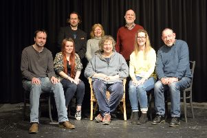 Top tips..the Every One cast members were delighted when Jo Clifford (centre front) popped in during their rehearsals for an impromptu Q&A session.