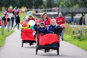 A sight soon to be seen in Bo'ness? Trishaws already operate in the Falkirk area taking OAPs out  for trips.