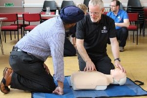 One of the organisations supporting the campaign is St John Scotland, which also provides CPR training to groups across the country. Volunteer Andrew Robertson is pictured delivering a training session.
