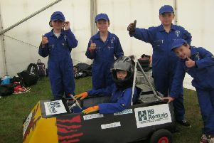 The Kinneff School drivers who took part in the Goblin Car Race