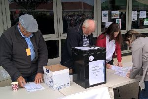 Voting was carried out at Portlethen gala.