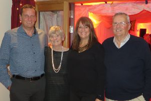 Family support... Robert, Fredda, Lesley and Jim have been supported by Alzheimer Scotland both before and since Fredda's diagnosis two years ago.