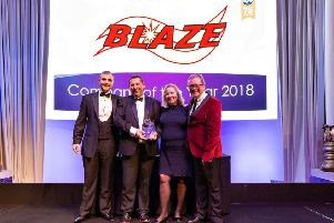 The Blaze team at the EIC awards