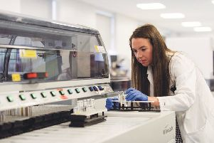 Louise Jackson, who graduated from the University's Applied Biomedical Science programme in 2016.