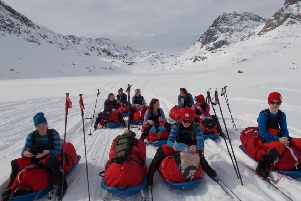 Out on the ice...The Polar Academy's pupils lead the expedition and decide their own route. It's no picnic but, for those who knuckle down, it can be a life-changing experience.