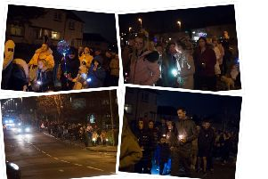 A torchlight procession took place in memory of Abbie McLaren on Sunday to call for better road safety