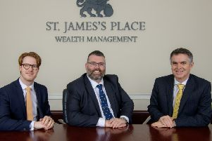 Left to right - Callum Robertson, Scott James and Graham Smith, of Scott James Wealth Management