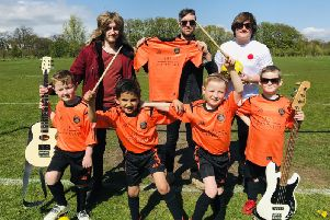 Aberdeen Indie band The Capollos answered Bervie Caley 2011 Youth FC's social media appeal for new sponsorship following the closure of their local Indian restaurant who had previously supported the club.