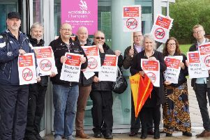 Staff at New College Lanarkshire lobby the Board over operational issues