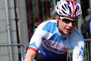 Lucy Ritchie in cycling action. Picture: Paula Stronach