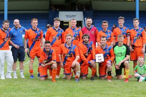 Hawick Royal Albert United took the Irene Hutchison Trophy last Friday, despite a bizarre premature finish to their game against Chaddy's Select (picture by Brian Sutherland).