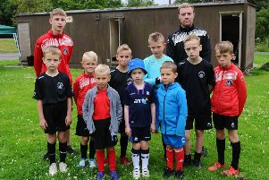 Falkirk Soccer Academy footballers were left dejected after their changing room was broken into and vandalised. Picture: Michael Gillen