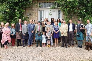 The delegation from Alabama are pictured at Rickard House during their visit.