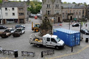 Stock photo of Linlithgow High Street.