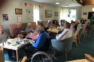 Party time as residents enjoy the anniversary celebrations at Hanover Court